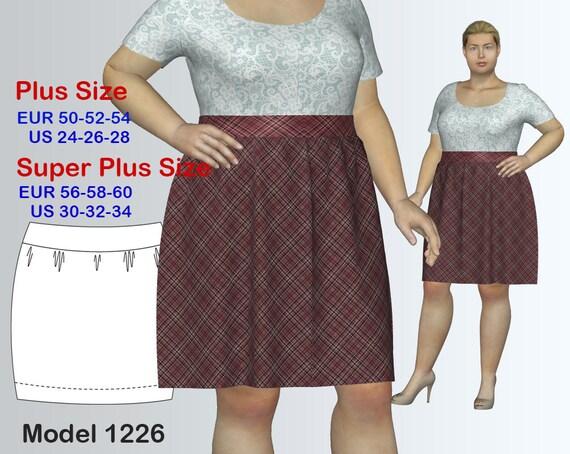 Plus size Bohemian Skirt Sewing Pattern PDF Women\'s sizes