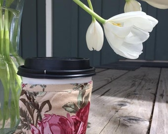 Coffee Cozy - Ivory Floral