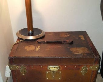 GOYARD  Original Genuine Malles Aime Paris RARE Art Deco Antique leather trunk with interior fittings