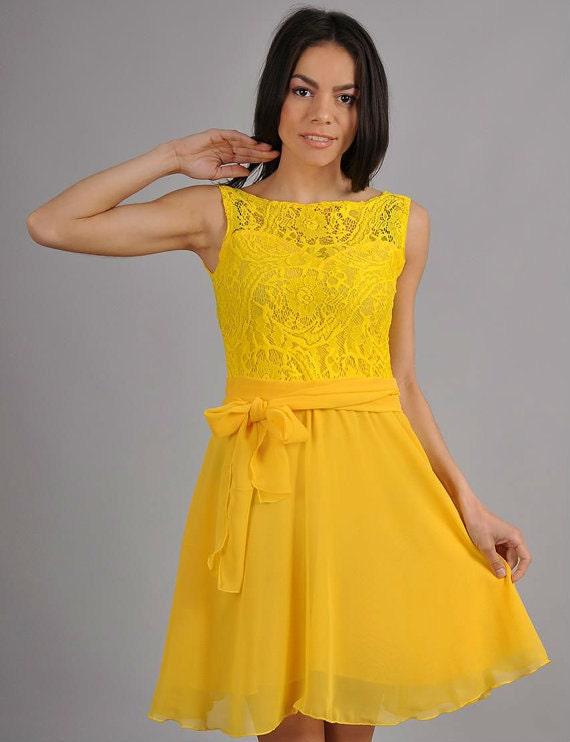 Gelben Kleid gelb Sommer gelb brautjungfernkleid für Frauen