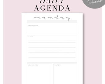 Minimalist Daily Planning Pages - A5 Size - Printable - Monthly Bonus Pages