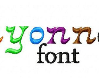 INSTANT DOWNLOAD Crayonnette Machine Embroidery Font Set Includes 3 Sizes