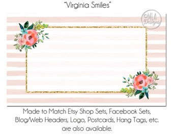 Floral business card template georgia blooms made to match floral business card template virginia smiles floral business card calling card business accmission Images