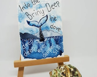 Into the deep ATC ACEO artist trading card