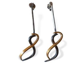Elegant Gold Infinity Earrings for Women, Handcrafted Earrings for Her, Special Gift  for Women, Long Earrings for Her, Unique Design, Porpe