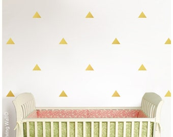 Gold Triangles Decals, Triangle Wall Decal, Triangle Home decor, Gold Triangles Wall Stickers