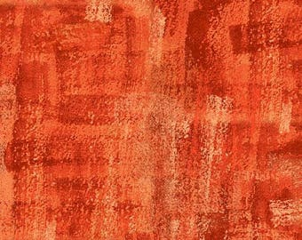 Brushline Orange Kim Schaefer Andover Fabric 1 yard