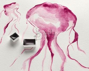 Cochineal Magenta Watercolor