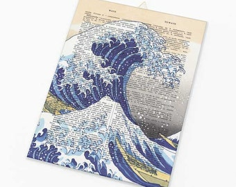 The great wave wall art-Kanagawa canvas board-holiday gift-coastal decor-home decor-art-beach wall art-coastal wall art-NATURA PICTA-CB033