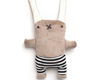 Rag doll Louise the Granny bunny - Handmade plush, Baby lovey