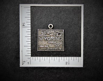 Wyoming State Sterling Silver Charm from StoryTeller Charms 585