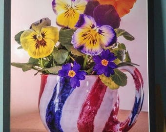 A Simple Cup of Flowers - 16x20 photographic wall art
