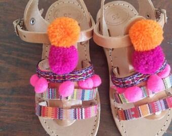Bohemions cuir sandales, sandales grecques, sandales à la main, adaptés par vivian, sandales en cuir grec, grec sandales en cuir