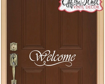 Welcome Front Door Vinyl Lettering Decal Sticker design2
