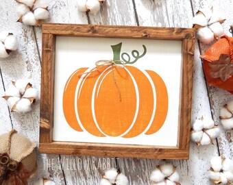 Rustic Pumpkin | Pumpkin Sign | Farmhouse Fall | Pumpkin Sign | Punpkin Patch | Fall Decor | Rustic Fall Decor