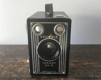 Vintage 1940s Brownie, Target Six-16 Box Camera Made Buy Eastman Kodak Compay