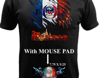 France World Cup Russia 2018 With Mouse Pad