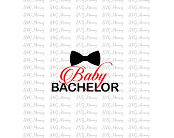 Baby Bachelor, Bow tie, Valentine's Day,  SVG cut file, DXF cut file, Cricut, Silhouette