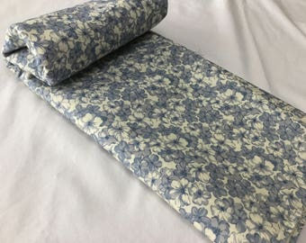Slate grey and blue floral fabric