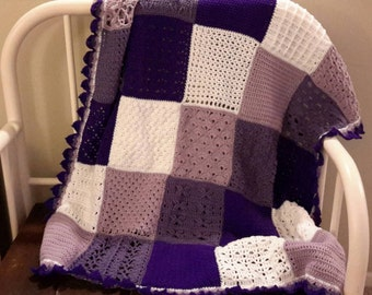 Shades of Purple Sampler Afghan