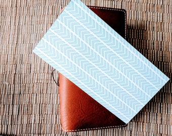 Aztec Turquoise Chevron Traveler's Notebook Insert | Midori Insert | TN Insert | Fauxdori | Tomoe River | A5 B6 Passport Standard Pocket