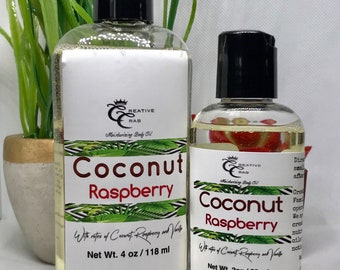 Coconut Raspberry moisturizing body oil