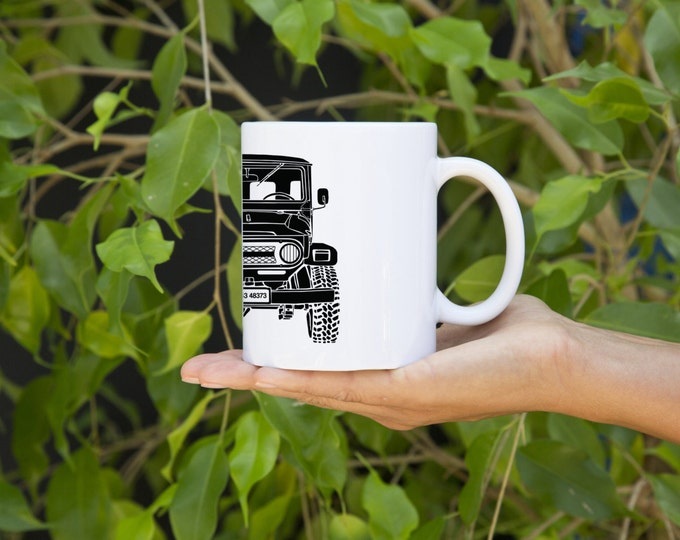 KillerBeeMoto:    Limited Release Japanese Four Wheel Drive Off Road Vehicle Coffee Mug (White)