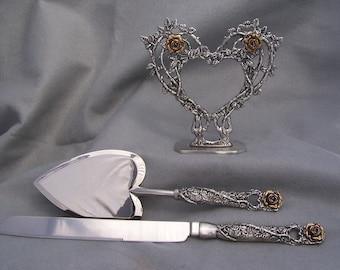 Rose Heart Wedding Set