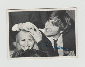 John (and Cynthia) Lennon trading card No. 85 Published by T.C.G. 1964