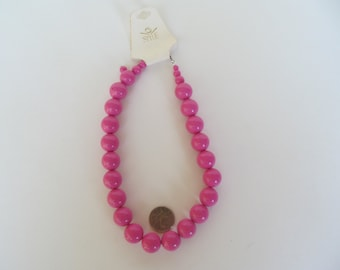 Pink  Pearl Necklace - Vintage - Fashion - Jewlery -