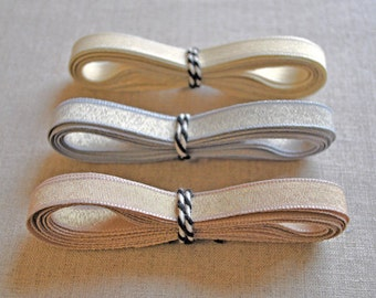 Metallic shimmer ribbons - choose your colour - 3m