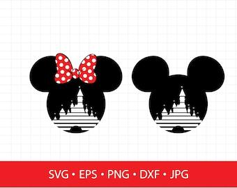 Disney castle svg, disney svg, mickey mouse svg, minnie svg, mickey ears svg, minnie ears svg,svg file for cricut,silhouette, svg files, svg