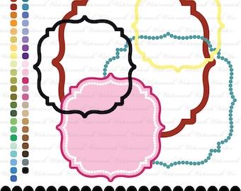 Quatrefoil clip art frame clip art digital frame clipart mediterranean : e0145  v301