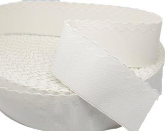 "1 yd White Plush Waistband Elastic - 2"" wide (AC55)"
