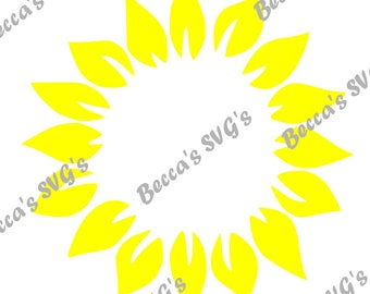 1 color/layer Sunflower circle perfect for monograms
