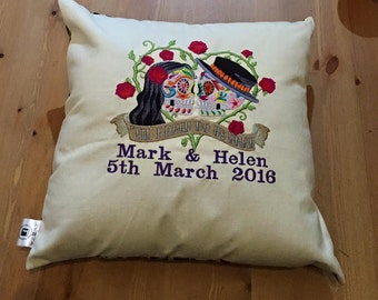 Personalised Till death cushion