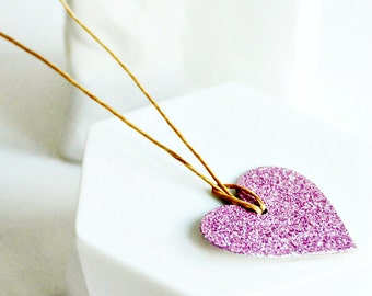 Glitter Heart Tags {10}   Pink Heart Tags   Pink Glitter Tags   Heart Tags   Love Heart Tags   Valentine Heart Tags   Wedding Favors