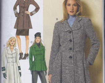 Butterick 6143 Misses Women's Lined Coats and Jacket UNCUT Sewing Pattern