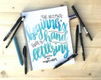 E-BOOK Modern Calligraphy Kit/Brush Lettering Kit/Practice Calligraphy Workbook/Hand Lettering Kit/Beginner Hand Lettering/Hand Lettering