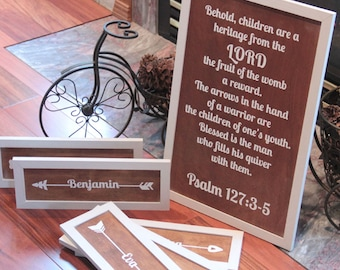 Quiver Arrows Bible Sign Children Are a Heritage From the Lord Psalm 127 Homeschool Classical Conversations Magnolia Market Joanna Gaines
