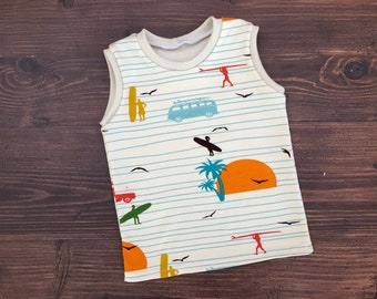 Organic Infant/Toddler Tank, Summer 62, Surf, Beach, Cars, Sufboards