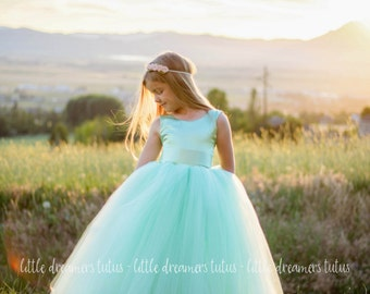 The Juliet Dress in Mint Green- Flower Girl Tutu Dress