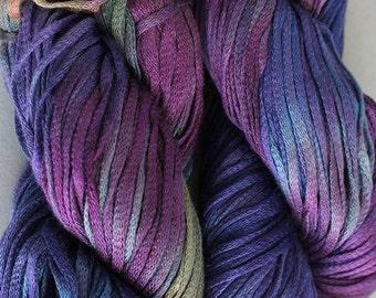 Junco, Rayon Tape Ribbon, Hand dyed  104 yds - Vineyard
