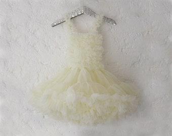Cream Ivory Tutu Dress For Babies & Girls
