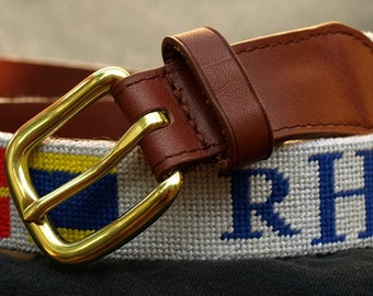 Custom Needlepoint Belt
