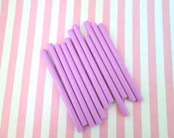 10 Lavender Purple glue sticks for drippy deco sauce, cell phone deco etc,
