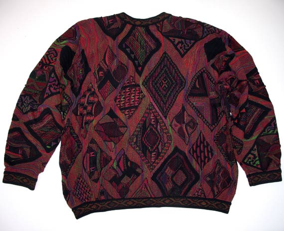 Neck Colors Sweater Pullover BLACK XL Ex Long Special Price Colorful Dark Cotton Large COOGI Mens 3D Australia Sleeve Long Sleeve V Roomy ORFXz