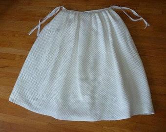 "Hand-Sewn ""Mock Quilted"" Marseilles/Matelasse Petticoat ~ long length"