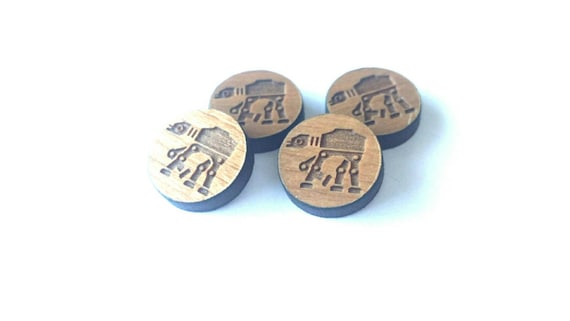 8 Pieces. Laser Cut Cherrywood Walker  shapes. Craft Supplies.  DIY Supplies