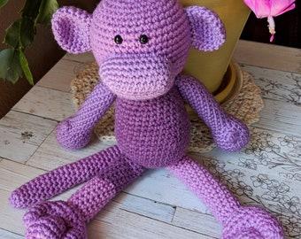 Lisa the Pink Monkey Amigurumi